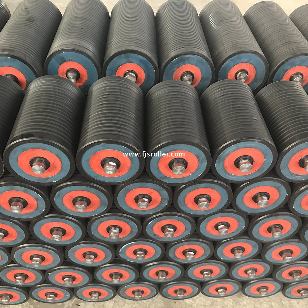 Wear resistant light weight uhmwpe hdpe idler roller for